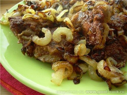 Алена несу спасибо за Хит сезона Жареная куриная печень, маринованная в горчично-соевом маринаде