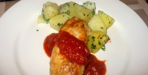"""А у нас сегодня супер легкий ужин: салатик-типа """"Оливье""""-только с куринной грудкой А второе было на... - 3"""
