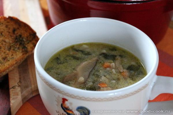 Сытный перловый суп