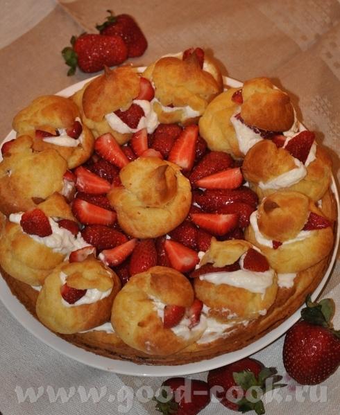 Заварной торт с ягодами - 2