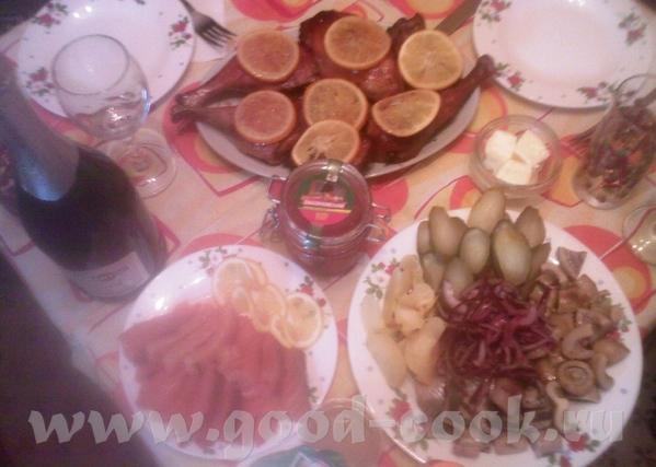 Девочки, можно и притулюсь со своим ужином (рождественский девичник) Уточка с апельсинами, селёдочк...