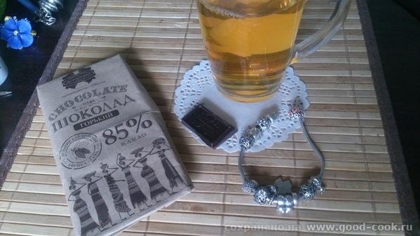 травяной чай с шоколадкой