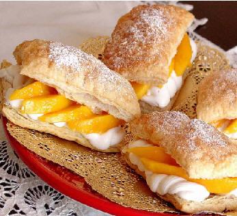 "Пирожные ""Наполеон"" с манго ot Belochka"