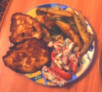 Сегодня у нас были щи из свежей капусты , рыбные котлетки , запеченная картошка , салат из свежих о... - 2