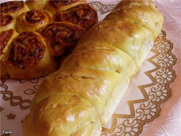 Самбусак с мангольдом Фокачча с перцем,помидором и моцареллой Плетенка с копченой курицей и грибами... - 3