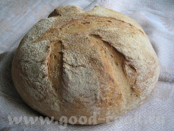 Простой деревенский хлеб на простокваше Рецепт: Мука пшеничная -450 г Мука ржаная -150 г Вода-120 г...
