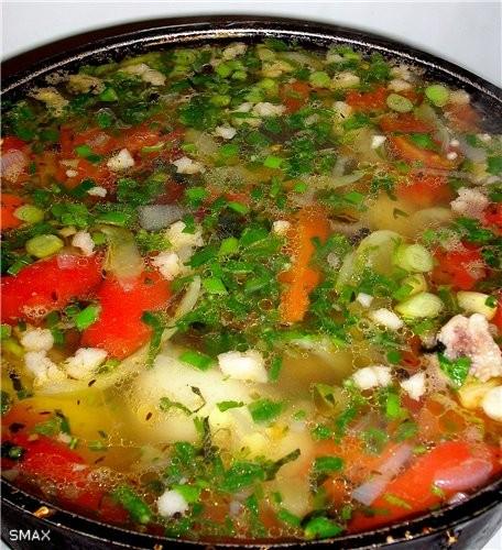 Состав: мясо, овощи, горох, зелень, специи - 2