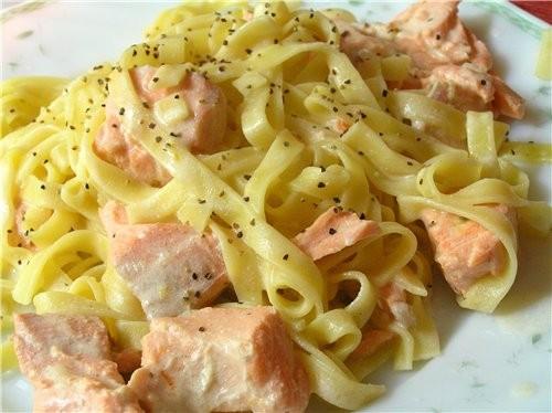 Гнезда из спагетти с моцареллой, шампиньонами и зеленым луком Зеленая лапша с соусом из тунца Лапша... - 4