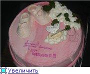 торт на крестины с ангелочком торт Маккуин - 2