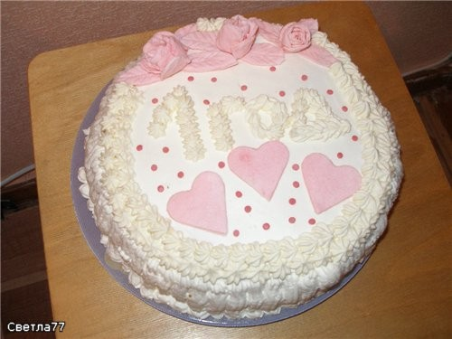 Девочки, принесла вам показать свои 2 первых тортика, делала их на годик своей дочке Конечно, они н...