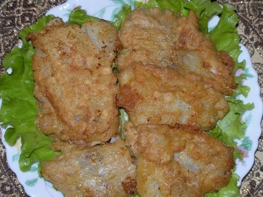 На обед приготовила салат АДМИРАЛТЕЙСКИЙ Салат с сердцем Пожарила филе трески в кляре - 3