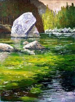 Уроки по рисованию рисуем акрилом Рисуем утренний прибой рисуем пейзаж Урок акрилом - 4