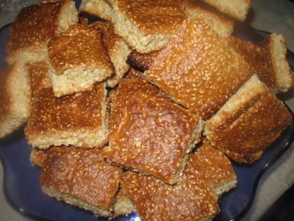 """В дополнение в рецепту """"Сладкое кунжуное печенье"""" - приготовление его одним пластом на противне - 3"""