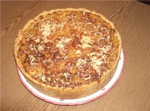 А я вчера делала луково-тыквенный пирог