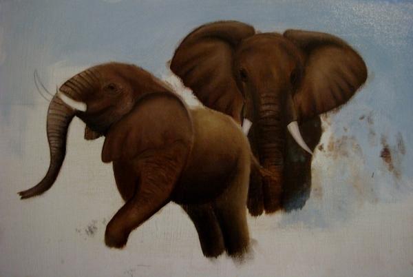 Девоньки, я тут за животных взялась, слонов начала
