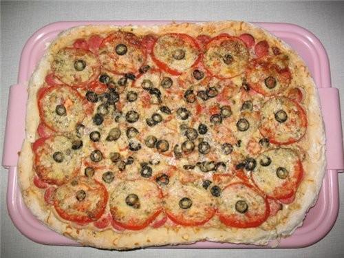Вчера пекла цитрусовое печенье от Мишель, по наводке Лауры -очень вкусное А сегодня испекла пиццу - 2