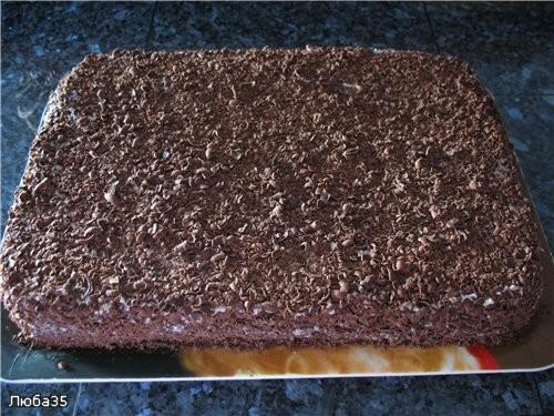 Торт шоколадный с вишней Понадобится два бисквита, каждий бисквит пеку отдельно