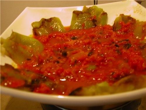 Болгарскии перец в Итальянском соусе Болгарскии перец в итальянском соусе