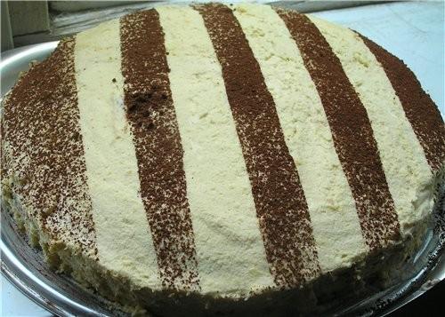 Торт-рулет с малиной Маковый торт с вишней Черно-белый торт с мандаринами - 5