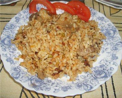 "плов на основе Ароз кон поло делала на основе ""Ароз кон поло - Запеченный рис с курицей по-мексикан..."