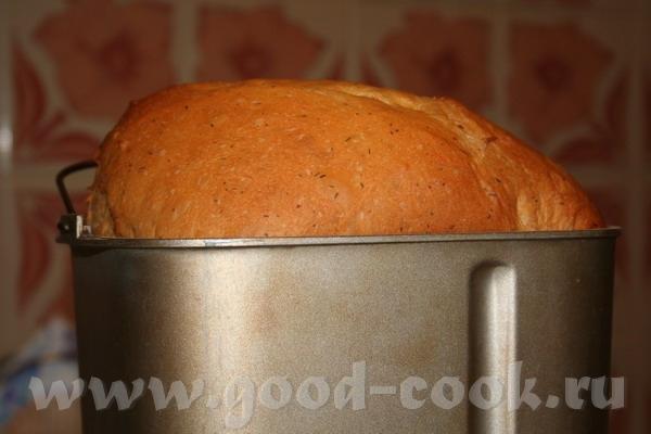 Хлеб белый с чесноком, томатом и укропом - 2