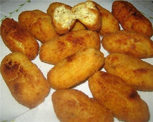 Сroquetas de jamon serrano (Крокеты с вяленой ветчиной) лук - 1 шт