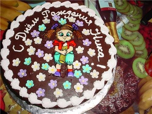 Вот мой многострадальный тортик