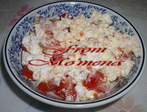 На завтрак Гебна биль ота уа зит Берем фету любую, мнем вилкой, добавляем порезанный помидор мелким...