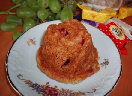 Вкусные-превкусные кексики,можно делать в формочках для кексоков,а можо испечь один кекс - 2