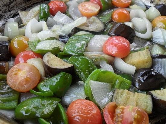 А вот мы делали шашлыки Овощи в сковороде - 3