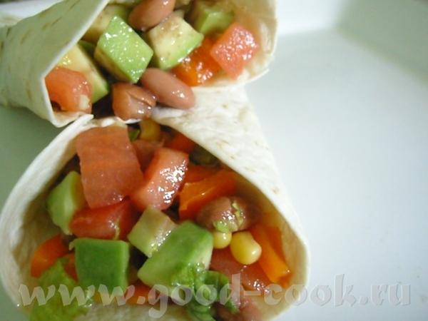 Вот постный, в меру острый мексиканский салат