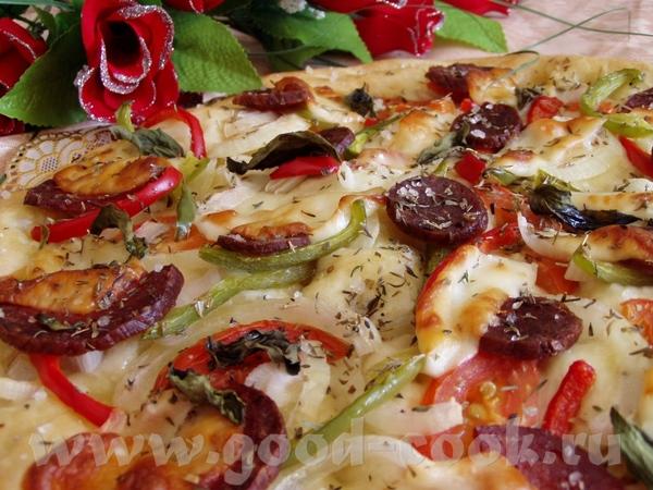 Соленые шарикии с моцареллой и перцем Фокачча с колбасой и овощами - 3