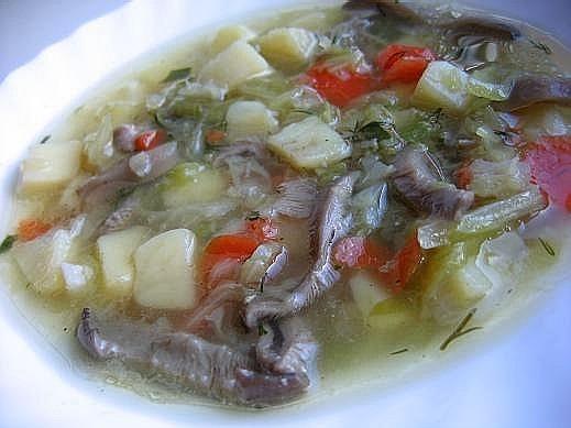 суп с вешенками и капустой пропорции на глаз кто-то любит густой суп,кто-то не очень в куриный буль...