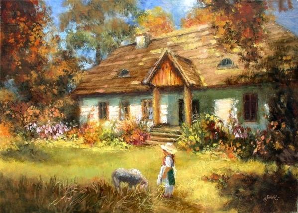 """Krystyna Jasinska Верхола Алёна- """"Рисую"""" картины природными материалами - листьями, цветами, корой... - 2"""