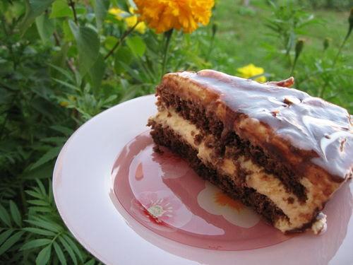 Воскресный день навеял желание побаловаться тортиком Маковый торт с йогуртом и шоколадом разрез не... - 2