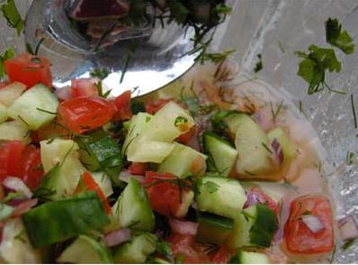 Чобан салаты - пастуший салат от Гюли
