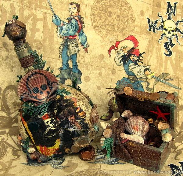 "мой пиратский наборчик ""Ром - На краю Земли"" и ""Сундук мертвеца"""