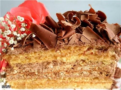 """А это любимый торт (после """"Наполеона"""") моей семьи (рецепт мой ),который делала на день рождения сын... - 3"""