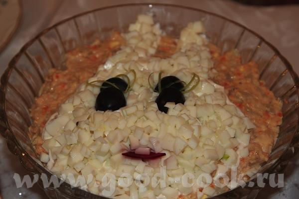 Алиса, я ж забыла поблагодарить тебя за салат Мимоза с печенью трески
