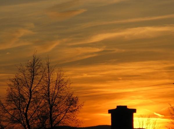 вечернее небо закат - 4