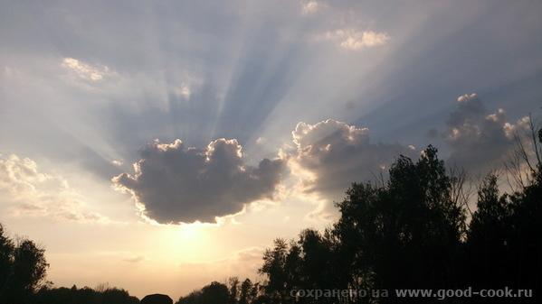облако в закате
