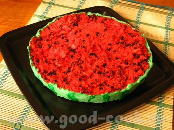 """Торт «Арбуз"""" Этот смешной тортик нашла на сайте компании Wilton (производит всевозможные кондитерск..."""