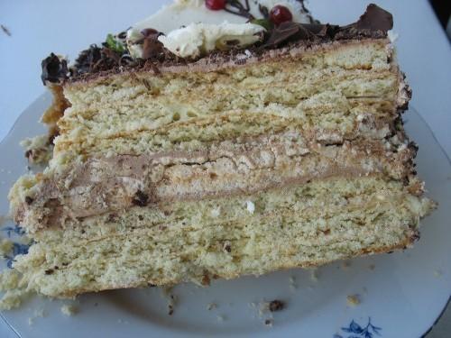 """Обещанный разрез торта """"Татьяна"""" Продолжаю делиться впечатлениями, вернее, просто передаю массу сег..."""