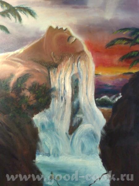 я срисововала эту картину у художника Джона Уорена(прошу прощение если имя автора с ошибками), мне...