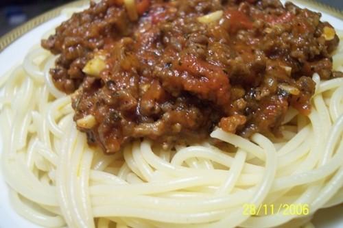 Спагетти Болонезе: спагетти - 500 гр