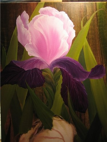 Цветок учимся рисовать красками