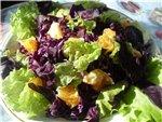 Салат - десерт из тыквы Салат Капустный с виноградом и яблоками Салат Оригинальный Салат из краснок...