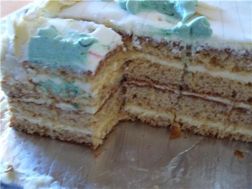 На вечер встречи одноклассников сделала такой торт - 2