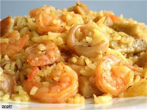 У меня сегодня вот такое на обед было МОРСКОЙ РИС (смешанный рецепт Сайядие от Викули-Серафимы и ре...