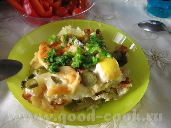 """""""испанская яишенка"""" - вариация на тему испанских омлетов остатки вчерашней жареной картошечки с лук... - 2"""